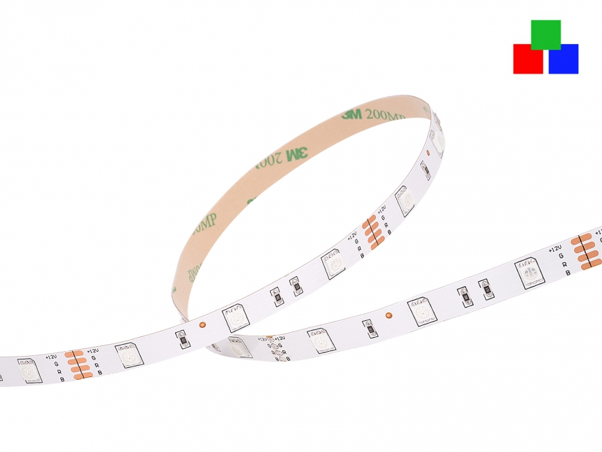 LED Stripe RGB 12Vdc 6W/m 120lm/m 30LEDs/m 4,0m