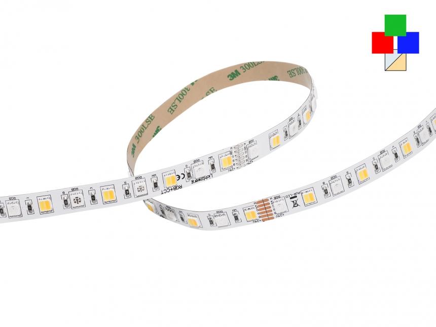 LED Stripe RGB(KW/WW) 24Vdc 17W/m 900lm/m 72LEDs/m 5-Kanal 5,0m