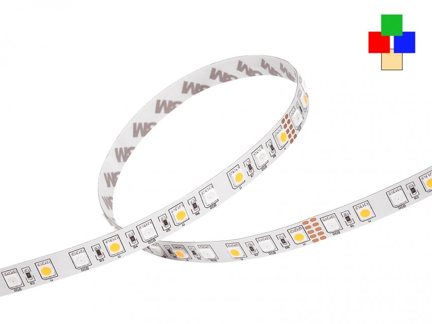 LED Stripe RGB-WW 24Vdc 14W/m 715lm/m 72LEDs/m 4-Kanal 2,0m