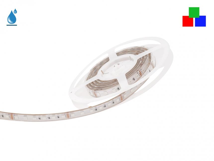 2m LED Stripe RGB 24Vdc 17W/m 250lm/m 72LEDs/m IP67