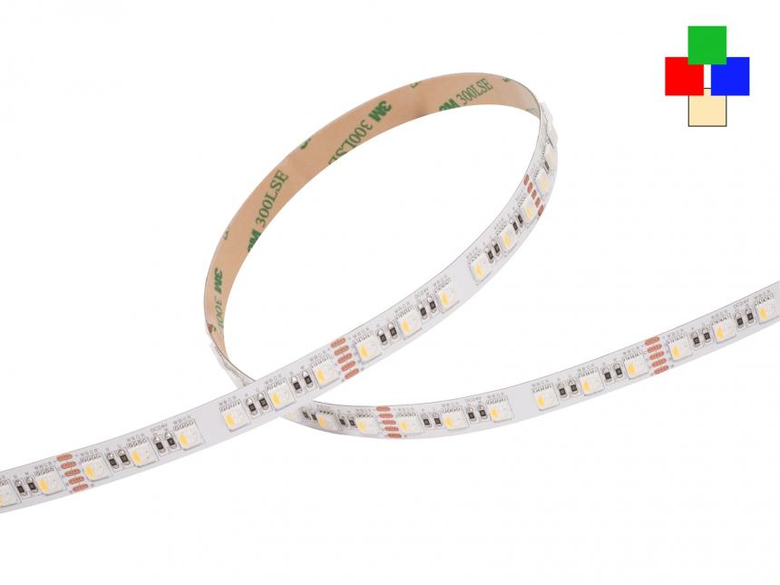 LED Stripe RGB-WW 24Vdc 24W/m 1220lm/m 84LEDs/m 4-Kanal 4,0m