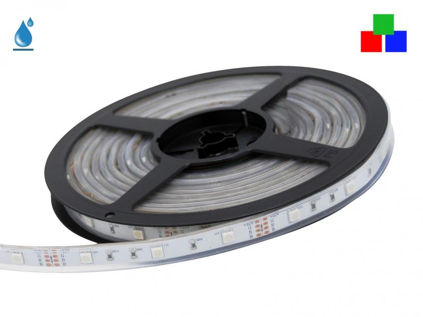 LED Stripe RGB 12Vdc 6W/m 120lm/m 30LEDs/m IP67 5,0m