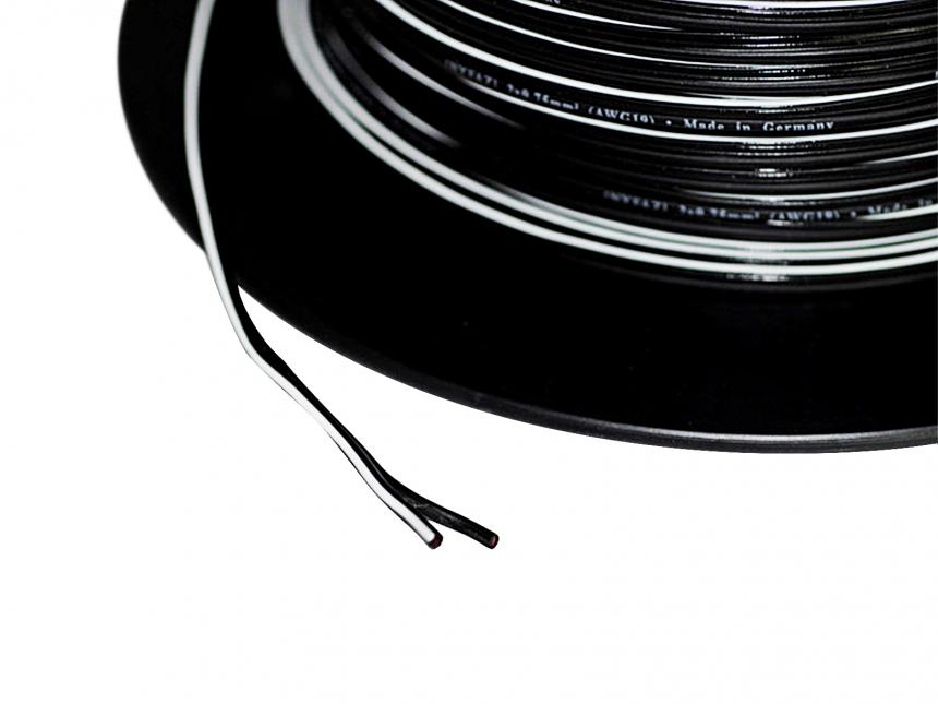 1m 2x0,75mm² Doppellitze / Leitung schwarz