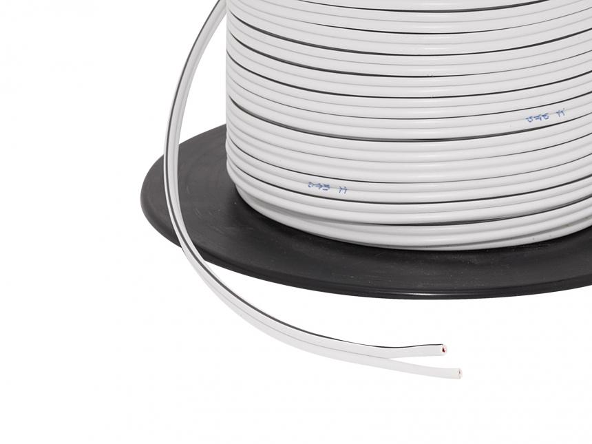 1m 2x 0,75mm² Doppellitze / Leitung weiß