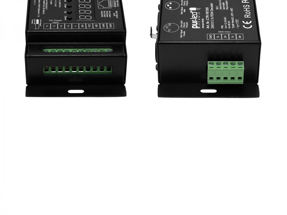 LED Dimmer RDM DMX512 RGB-Dualweiß 12-24Vdc 5x8A Blitzschnelle Lieferung