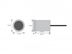 Filigrane LED-Einbauleuchte IP67, blau, 12Vdc / 0,5W  -Mediterran-