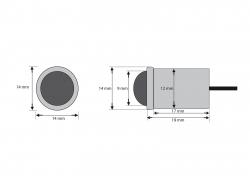 Filigrane LED Einbauleuchte  25° klar, IP67, warmweiß, 12Vdc / 0,5W -Marinera-