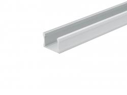 LED Alu U-Profil Slim XL 15mm silber mit Abdeckung