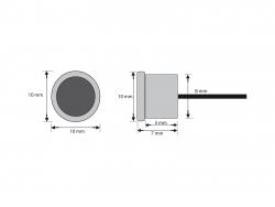 Filigrane LED-Einbauleuchte flach IP67, warmweiß, 12Vdc / 0,5W  -Menorca-