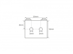 LED Montage-Klipp Edelstahl für LED Aluminiumleiste Outdoor