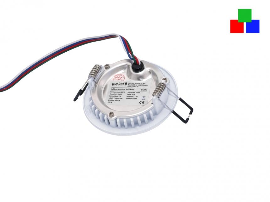 LED Deckenleuchte Monaco S2 95mm 24Vdc RGB LED Panel farbstrb.