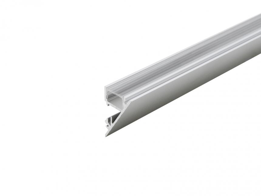 Alu Voutenprofil XXLine mit Abdeckung 1,0m transparent silber