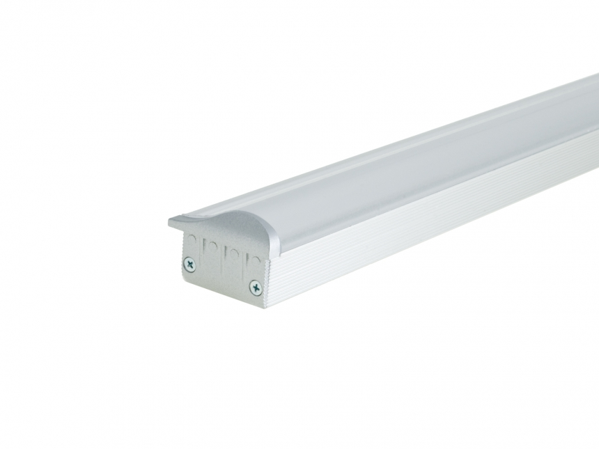Endkappe LED Aluminium T-Wallwasher-Profil links