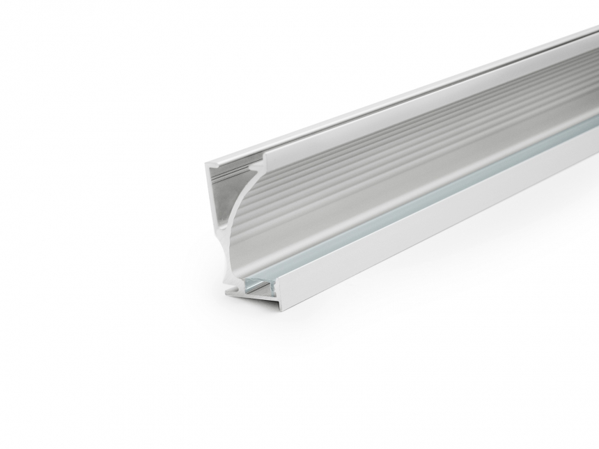 LED Alu Wandeinbauprofil silber mit Abdeckung 1,0m opalweiß