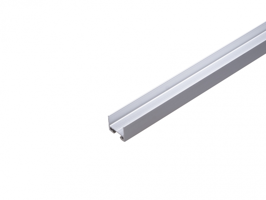 Alu Duoprofil für zwei LED Stripes silber mit Abdeckung opal 1,0m