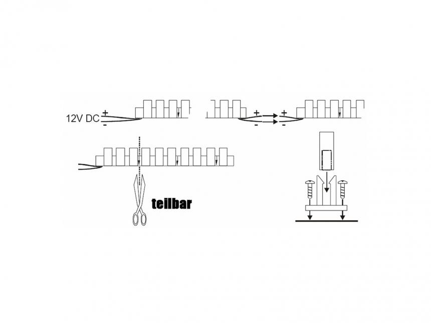 97cm LED Modul kaltweiß 12Vdc 8W/m 280lm/m 96LEDs IP67