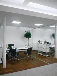 PUR-LED Panel-Light Frame 300 Inkl. Knauf-Revisionsrahmen für Rigips Einbau warmweiß, 100-240Vac, 28W, dimmbar