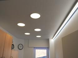 LED Rundpanel dimmbar, 240mm warmweiß 24Vdc / 18W / 950lm, Gehäuse weiß