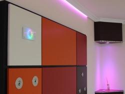 Elegante LED Design Wandsteuerung E:Cue Light-Drive Elite für RGB DMX Technik, Farbe schwarz