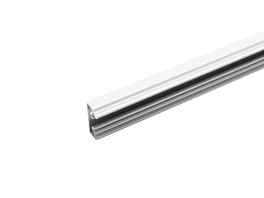 LED Alu Wandsegel si mit Abdeckung/Schiene 1,0m transparent groß
