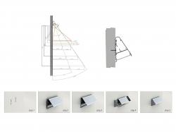 LED Alu Triangelprofil silber mit Abdeckung