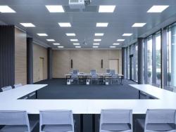 PUR-LED Panel-Light 300 kaltweiß, 100-240Vac, 28W max, CRI 80, 2000 Lumen, dimmbar mit DALI, DMX, 0-10V