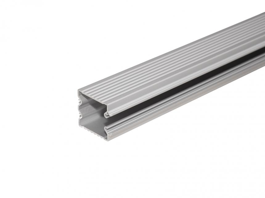 LED Alu Wandsegel si mit Abdeckung/Schiene 1,0m opalweiß klein