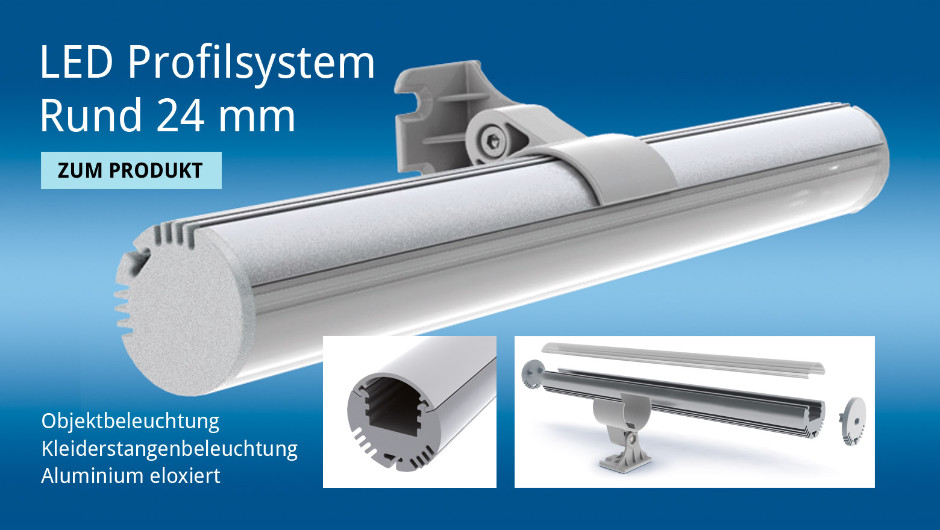 LED Profilsystem Rund 24 mm