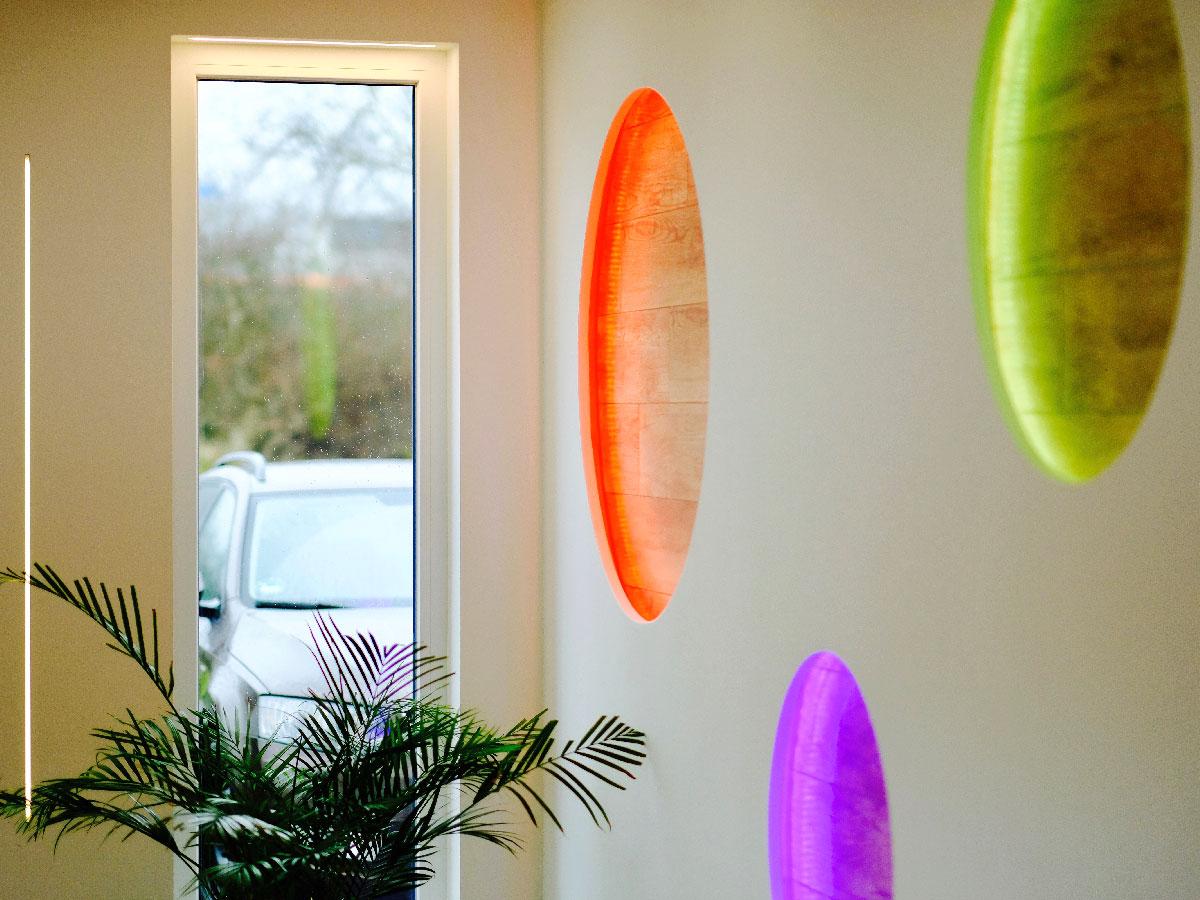 LED Kreise RGB Stripe in der Wand