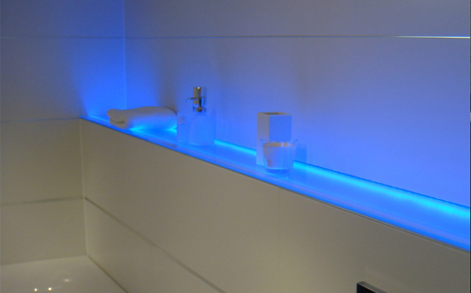 flexible, selbstklebende LED-Leiste blau 12Vdc -Standard-